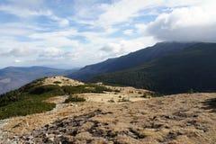 Slope of Babia hora 1725 m, Orava stock image