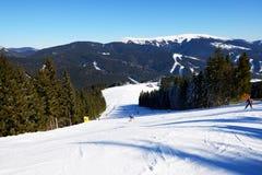 The slope of Bukovel ski resort Royalty Free Stock Image