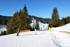 The slope of Bukovel ski resort Stock Photography