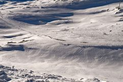 Slope in Deux Alpes. France Royalty Free Stock Image
