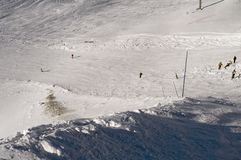 Slope in Deux Alpes. France Royalty Free Stock Photos