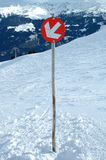 Slope direction sign Stock Photography
