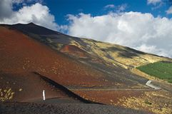 On the slope of the Etna,  Italy, Sicily Royalty Free Stock Images