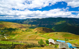 Slope farming at Yunnan China country side Stock Photography