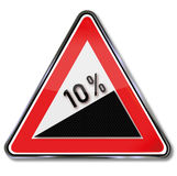Slope 10% and getting up Royalty Free Stock Image