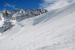 Slope of the glacier Stock Image