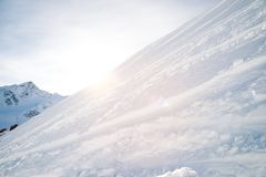 Slope of the hill on north caucasus Royalty Free Stock Images
