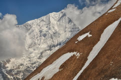 Slope in Himalayas Royalty Free Stock Images