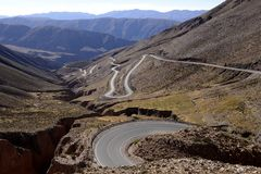 Slope of Lipan, Argentina. The slope of Lipan, in the province of Jujuy, Argentina Stock Photos