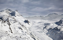Slope on Matterhorn Peak in Switzerland Royalty Free Stock Images