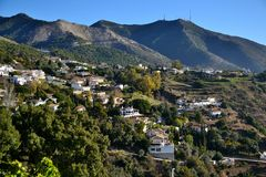 Slope mijas Royalty Free Stock Images