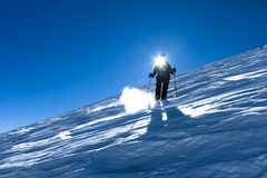 On the slope of Mount Elbrus Stock Photos
