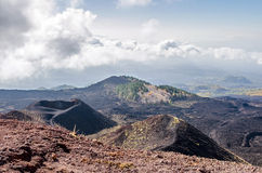 Slope of Mount Etna below summit Royalty Free Stock Images