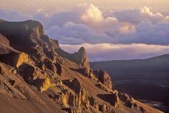 Slope of Mount Haleakala Volcano at Sunrise, Maui, Hawaii Royalty Free Stock Photos