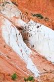 Slope of orange-white sand mountain Royalty Free Stock Photography