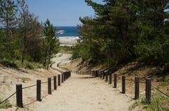 Slope path to the beach Stock Photos