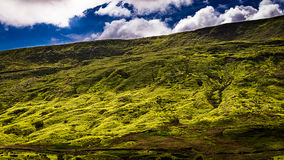 Slope of Pendle Hill with sky and clouds Royalty Free Stock Image