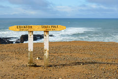 Slope Point. Old Slope Point sign, the southern New Zealand point royalty free stock image