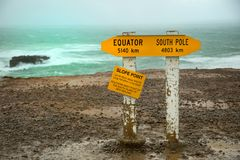 Slope point sign in New Zealand Stock Photography