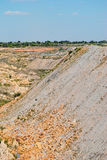 Slope of quarry Royalty Free Stock Images