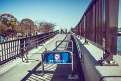 Slope and ramp for walk ar park in tokyo, do not entrance by bic Royalty Free Stock Photo