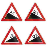 Slope Signs In Germany Stock Photos