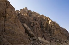 Slope of the Sinai mountains Royalty Free Stock Photography