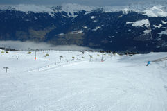 Slope and ski lifts Royalty Free Stock Photography