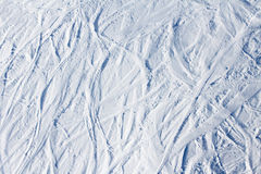 Slope with ski traces Stock Photography