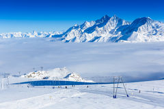 Slope on the skiing resort Stock Image