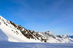 Slope on the skiing resort Stock Photography