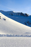 Slope on the skiing resort Stock Photos