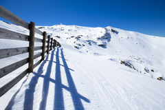 Slope on the skiing resort in Sierra Nevada Stock Images