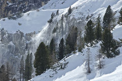 Slope with snow. The wind moved the snow from the snowy hill royalty free stock photos