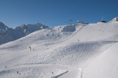 Slope in Soelden Stock Image