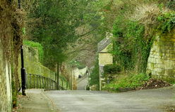 Slope street in Bath Stock Photography