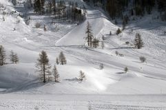 Slope in Val d'Isere. France Royalty Free Stock Photos