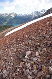 Slope of volcanic rocks royalty free stock photos