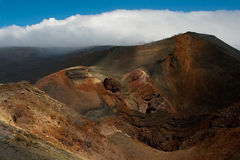 Slope of volcano with craters Royalty Free Stock Photography