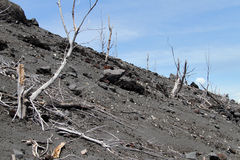 Slope of volcano Stock Images