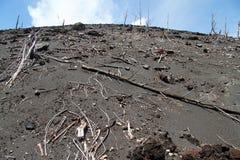 Slope of volcano Stock Photo