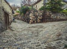 Sloped alley in Ankara Royalty Free Stock Photos