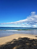 Sloped Clouds Over the Ocean. At Spencer Beach Park in Waimea, Kamuela, Hawaii, on the Big Island Stock Photos