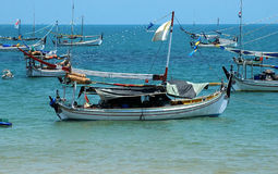 Slopeng beach. Fishing boat on Slopeng beach, Madura, East Java, Indonesia Royalty Free Stock Photography