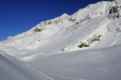 Slopes in Alpe d'Huez. France Stock Photography
