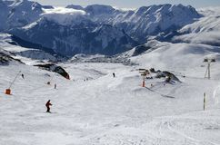 Slopes in Alpe d'Huez. France Stock Photo