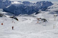 Slopes in Alpe d'Huez. France Stock Photo