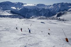Slopes in Alpe d'Huez. France Stock Photos