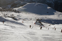 Slopes in the alpe d'Huez ski resort Stock Images