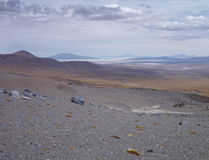 Slopes around volcano isluga at chilean altiplano Stock Photos
